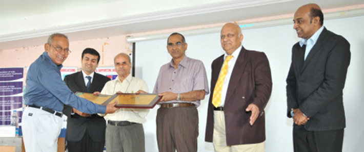""" Receving 'The Best Engg College award' from Vice Chancellor Prof. K. Lal Kishore,VC,JNTUA """